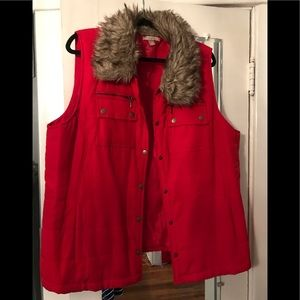 Dress Barn Roz & Ali Puffer Vest 2x